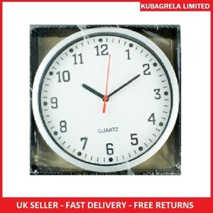 LARGE ROUND WALL QUARTZ CLOCK - Home bedroom kitchen office school white black