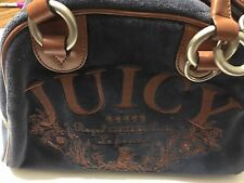Juicy Couture Velour ROYAL Couture Le Francais Party Satchel Bowling Bag Handbag