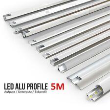 LED Profil Aluprofil Alu Schiene Leiste Profile für LED-Streifen Eloxiert 5x 1m