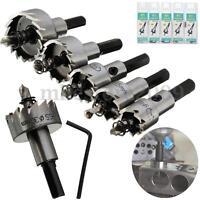 5x HSS Drill Bit Hole Saw Set Stainless Steel Metal Alloy 16-30mm Tool Kit YU 24