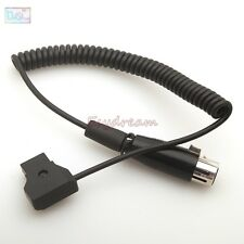 Coiled D-Tap Dap 2Pin Male to XLR 4pin Female Cable for DSLR Rig Power V-Mount