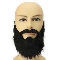 Halloween Prop Beard Pirate Dwarf Costume Black Long Fake Beard And Mustache New