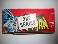 1966 BATMAN (3RD SERIES) 5cent CARD DISPLAY BOX TOPPS  *BEAUTIFUL CONDITION*