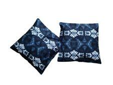 Tie Dye Handmade 2 Pack 18x18 Inch (45cmx45cm) Cushion Covers. Blue.