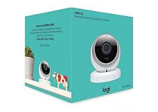 Logitech White Logi Circle Wi-Fi Portable Video Monitoring Camera 1080p HD
