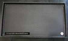 """Black jewelry display tray full size 14 3/4"""" x 8 1/4"""" X 1"""" deep jd014"""