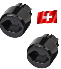 2 x Reisestecker Schweiz Travel Reise Adapter CH Switzerland brennenstuhl