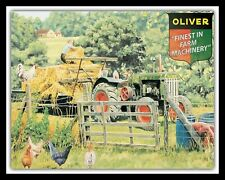 "10"" x 8"" Oliver Farm Machinery Vintage Tractor Trailer Metal Plaque Sign 1219"