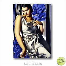 Tamara de Lempicka Ritratto di Madame M. STAMPA TELA 50x70 QUADRO RIPRODUZIONE