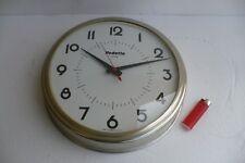 Superbe Vedette Transistor 27.5 cm PENDULE Murale CLOCK Horloge Lic ATO France