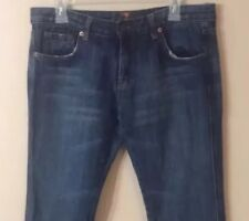 "7 For All Mankind Women's ""A"" Pocket Jeans Pink Stitching Detail size 32x33"