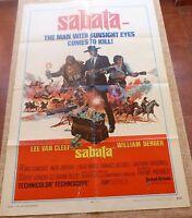 Sabata Movie Poster, Original, Folded, One Sheet, year 1970, USA, Lee Van Cleef
