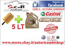 KIT FILTRO OLIO BOSCH + 5 LT CASTROL EDGE 5W30 LongLife  GOLF V VI VII TIGUAN