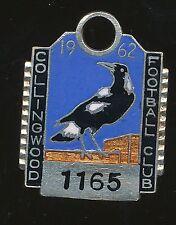 1962 Collingwood Medallion Social Club Membership badge