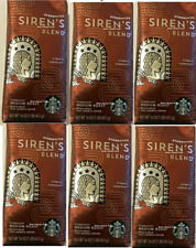 Starbucks Medium Roast Siren's Blend Whole Bean Case 6/16oz