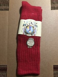 E.G. Smith Men's Red Boot Socks-Size 9-13 100% Cotton-NEW