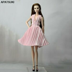"""Pink Pretty Dress For 11.5"""" 1/6 Doll Outfits Fashion Doll Clothes Party Dresses"""