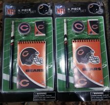New Lot of 2- NFL  Chicago Bears 4 piece Study Set Gift Idea/ stocking stuffer