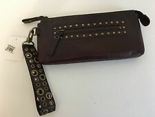 Nordstrom Burgundy Leather Studded Wristlet NWT