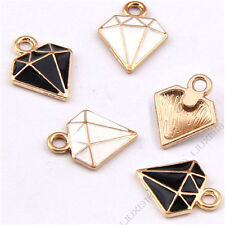 Black/ Charms Diamond shape Pendant Bracelet Accessories DIY Jewelry Making 998H