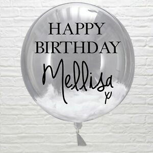 Personalised Name Word Number Sticker Bubble Balloon Party Birthday wedding baby