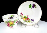 "REGENCY ENGLAND BONE CHINA FRUIT DESGIN 2 1/4"" DEMITASSE CUP & SAUCER SET"