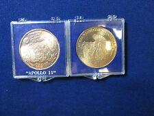 2 Apollo Coins #11 Armstrong Collins Aldrin & #14 Shepard, Roosa, Mitchell Coin