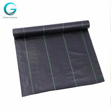 3*200ft Heavy-Duty Weed Barrier Garden Landscape Pe Fabric Woven Ground Cover Us