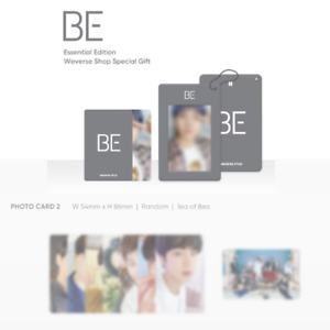 BTS BE ESSENTIAL EDITION PHOTO CARD & WEVERSE SHOP PRE-ORDER BENEFIT CARD HOLDER