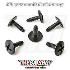 5x KUNSTSTOFF SCHRAUBE HALTER BEFESTIGUNG CLIPS VW GOLF T5 7H0915450 KLIPS NEU
