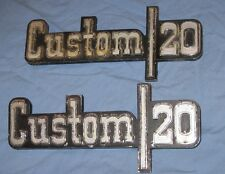 73-87 CHEVY PICKUP CUSTOM 20 EMBLEMS A PAIR  GOOD CONDITION 73 74 75 76 77 78 79