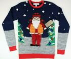 Jolly Sweaters Ugly Christmas Sweater Hunting Santa Mens Size S