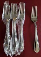 NEW Oneida Countess 4 Dinner Forks Glossy 18/0 Stainless Flatware Silverware