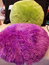 PURPLE AND GREEN THROW PILLOWS