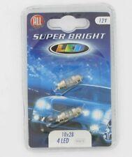 All Ride Superbright 4 LED Festoon 10 x 28mm – Twin Pack – White