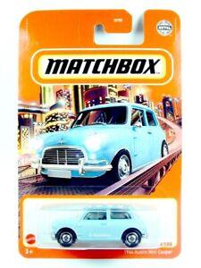 2021 MATCHBOX / #70 1964 Austin Mini Cooper S (Blue) / BLISTER CARD.