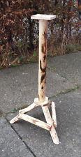 vogelhausständer support bois nichoir mangeoire 1m Haut Ø 8cm 3 beinig