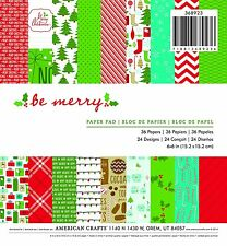 American Crafts Christmas 6 X 6 Paper Pad Be Merry