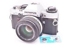 Nice Set - Olympus OM10 35mm SLR Camera cw 50mm Japan Lens Manual ...