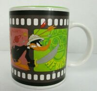 Vintage Looney Tunes Back in Action Ceramic Coffee Mug Cup Bugs Bunny Daffy Duck