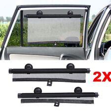 2Pcs Car Window Sunshade Roller Retractable Kids Baby Sun Screen Protector Blind