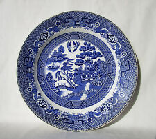 Societe Ceramique Maestricht Holland Willow Plate Blue & White Oriental Scene 9""