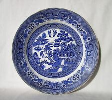 "Societe Ceramique Maestricht Holland Willow Plate Blue & White Oriental Scene 9"""