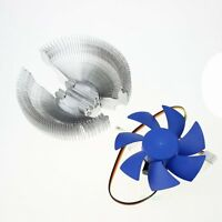 85mm CPU Fan Replacement Video Card Cooler Cooling 55cfm DC 12V 3Pin Blue Wing