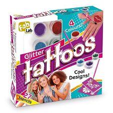 Glitter Tattoos Girls Kit Set NEW Game Make Your Own Glittery Shimmer Body Art