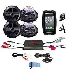 "New Bike ATV Outdoor Use 6.5"" Speakers, 800W 4CH iPod Input Amplifier,Phone Case"