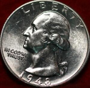 Uncirculated 1948-S San Francisco Mint Silver Washington Quarter