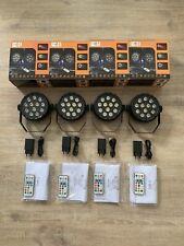 4 Stück E-Lektron PAR12 LED Strahler RGBW Lichteffekt Party Disco USB-C Spot