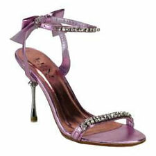 Pleaser Sexy Evening Ankle Strap Sandal- Pink- Size 9