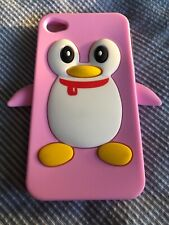 iphone 4 - 4s Silicone Pink Penguin Case